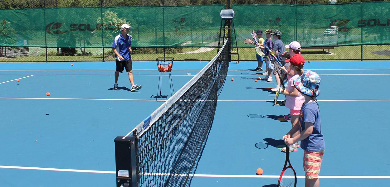 Samford Primary School junior tennis players orange squad